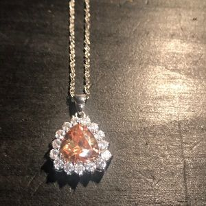 Charles Winston CZ sterling necklace